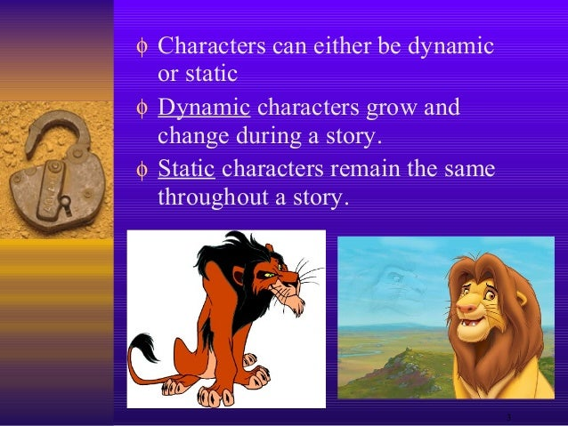 what is a static character in literature
