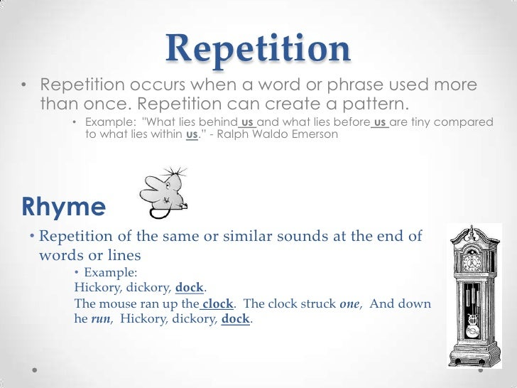 what is repetition in literature