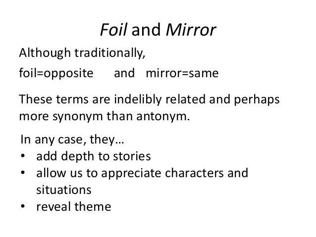 definition - Foil (literature)