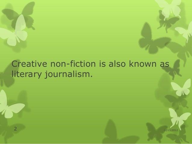 Literary journalism Slide 2
