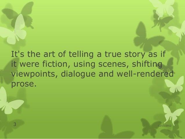 Literary journalism Slide 3