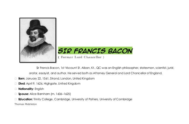 sir francis bacon education