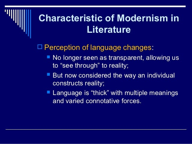 Modernism and the Modern Novel