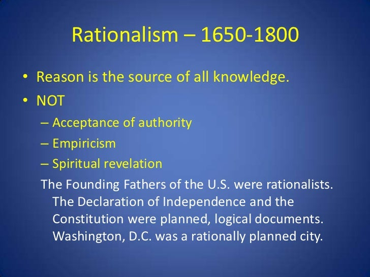 rationalism empiricism and knowledge essay And analysis of knowledge t rivals rationalism according to which reason put forth in john locke's an essay a critical analysis of empiricism.