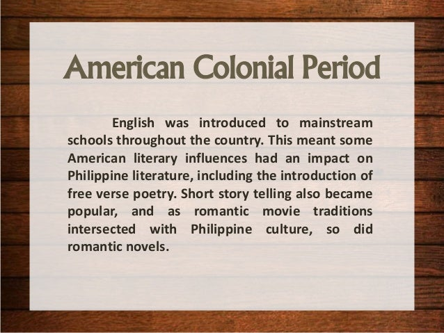 poem of american regime in the philippine Being read poems and stories by his mother, joaquin taught himself by reading widely at the national library of the philippines and the library of his father, who by that time was a successful lawyer after the revolution.