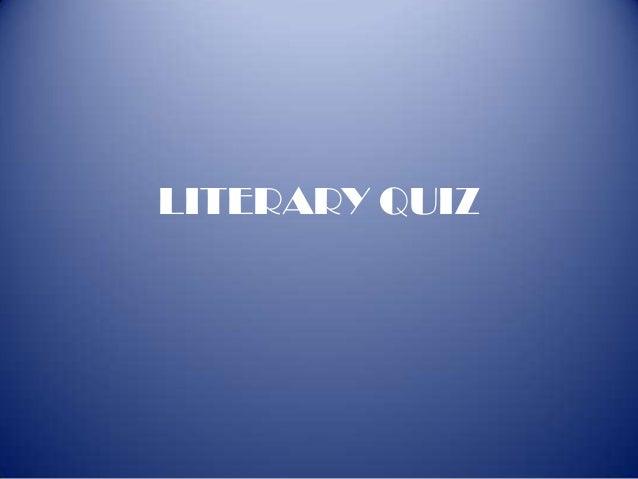 Inter school Literary quiz