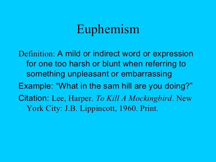 euphemism in to kill a mockingbird