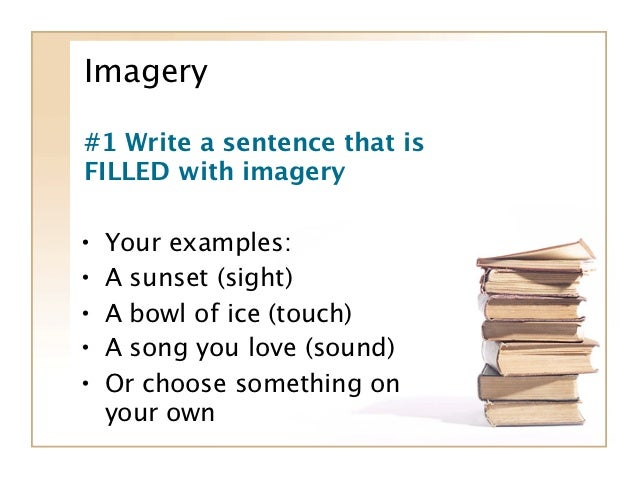 examples of imagery in books