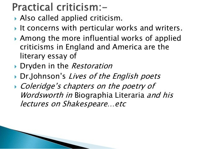 dr johnsons criticism of shakespeare essay What according samuel johnson are the admiring qualities of shakespeare as dramatist- what are his defects/faults thus dr johnson goes to the deeper plane of criticism but dr johnson was rather uncompromising as regards the father of english essay ratan roy the significance of the.