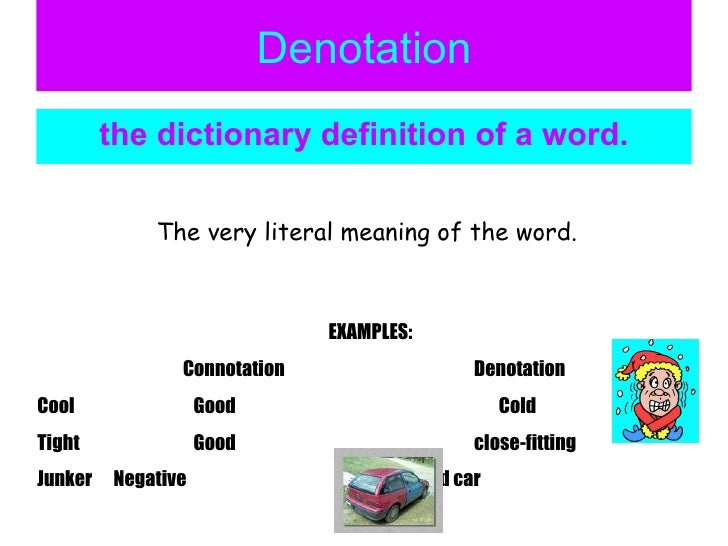 what is denotation in literature