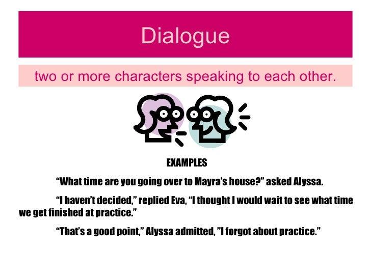 dialogue definition literature