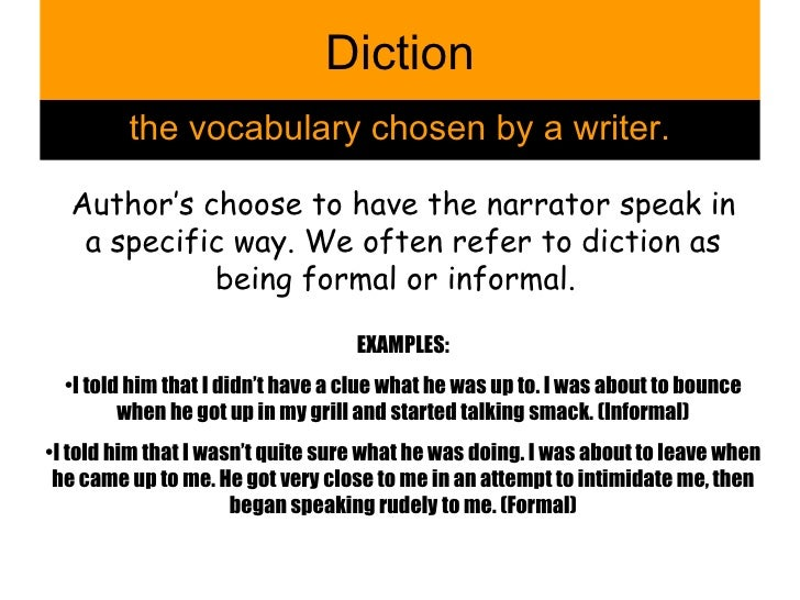 Examples Of Diction In Literature Literary Terms