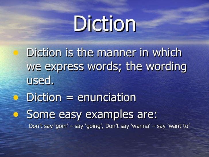 Examples Of Diction In Literature Literary terms ...