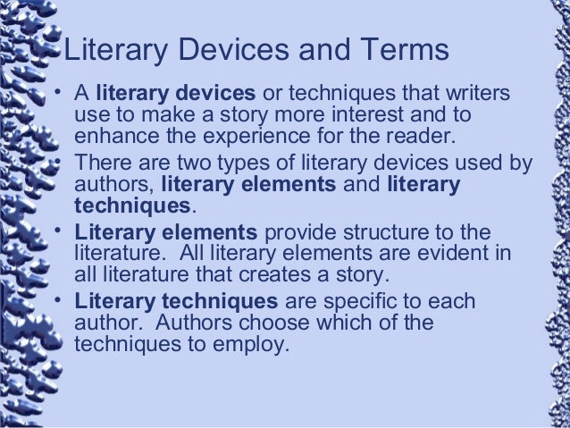 Literary devices used in literature pdf