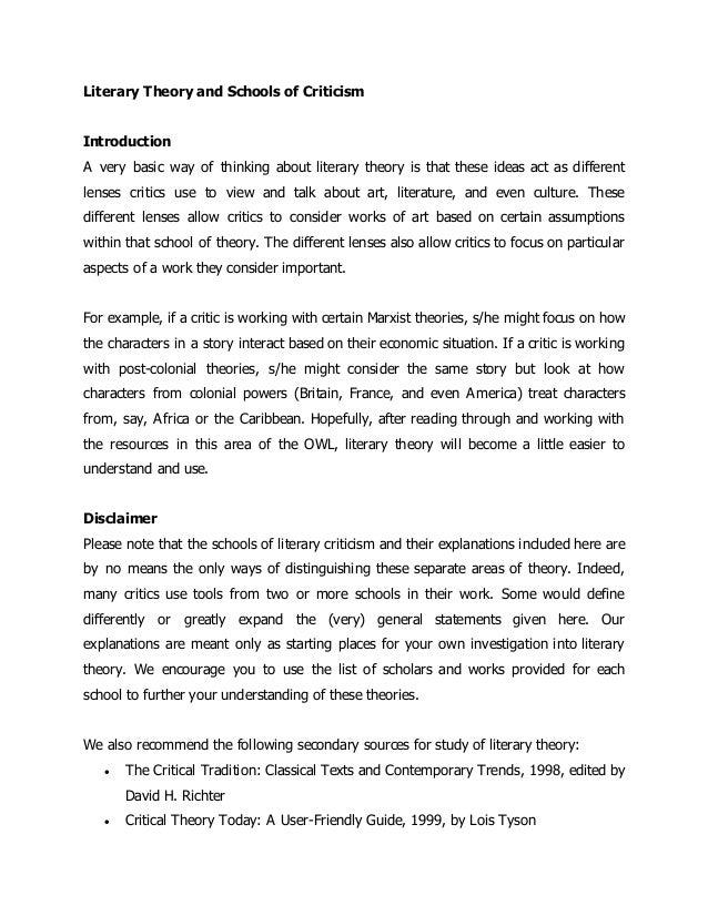 Essays in Literary Criticism