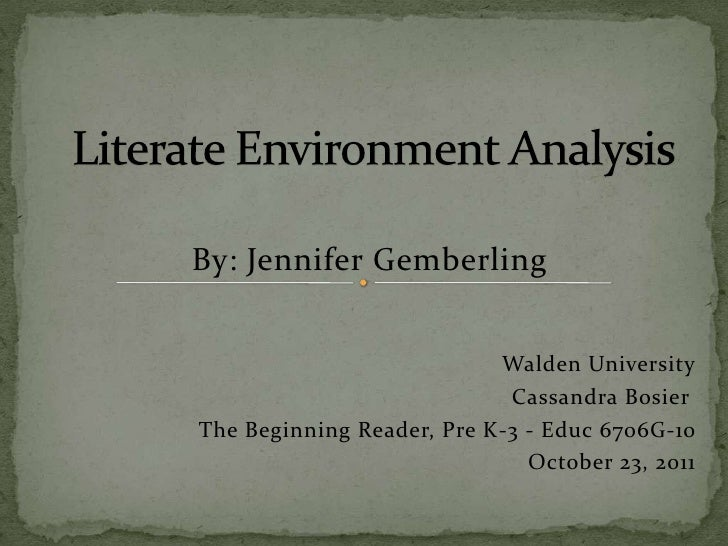 By: Jennifer Gemberling                           Walden University                            Cassandra BosierThe Beginni...