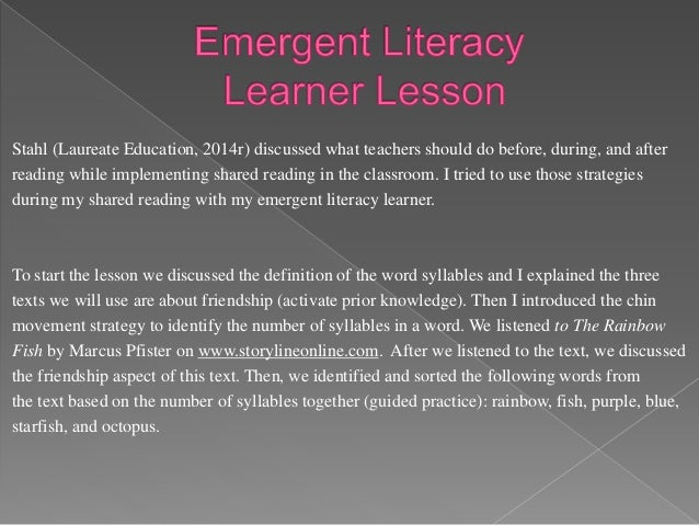 Next, I read the informational text Friends! by Elaine Scott to the emergent literacy learner. After reading, we answered ...