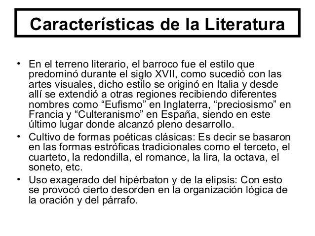Características de la Literatura Sinestesia: Es la característica en donde se mezcla las sensaciones a través de los senti...