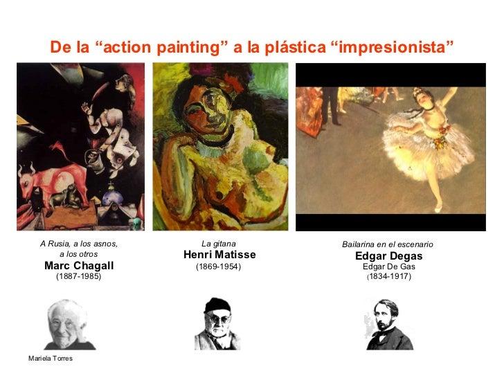 """De la """"action painting"""" a la plástica """"impresionista"""" A Rusia, a los asnos, a los otros   Marc Chagall (1887-1985) La gita..."""