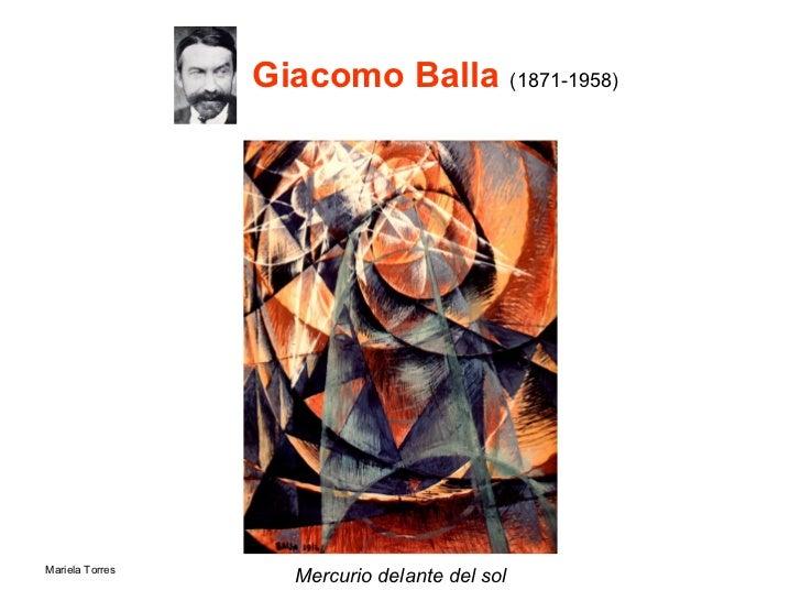 Giacomo Balla  (1871-1958)  <ul><li>Mercurio delante del sol </li></ul>