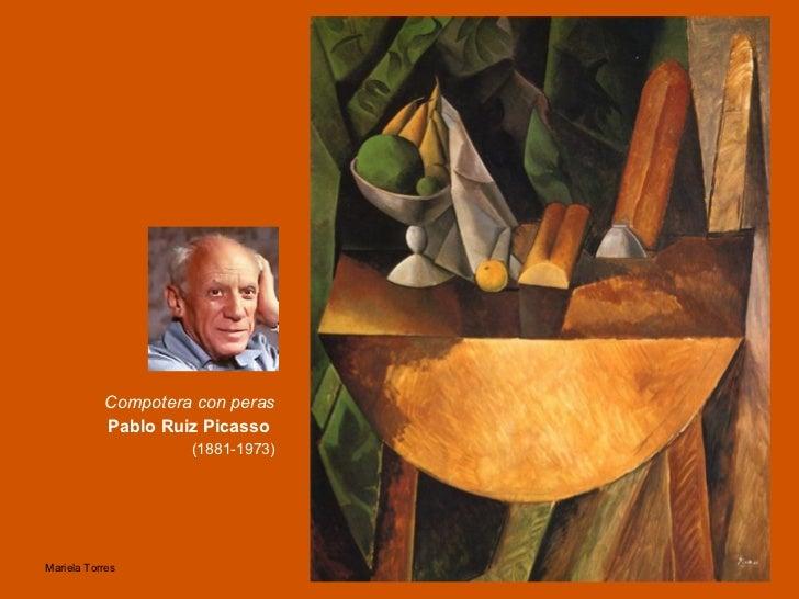 Compotera con peras Pablo Ruiz Picasso   (1881-1973)