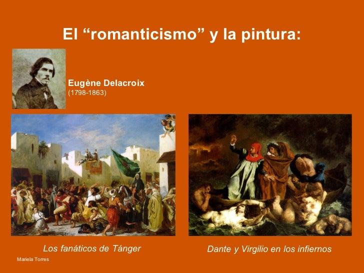 """El """"romanticismo"""" y la pintura: Los fanáticos de Tánger Dante y Virgilio en los infiernos Eugène Delacroix  (1798-1863)   ..."""