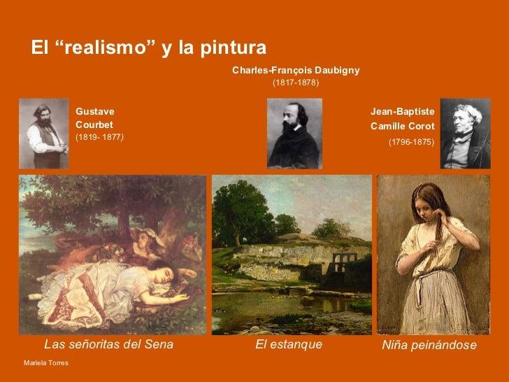 """El """"realismo"""" y la pintura Las señoritas del Sena  El estanque  Niña peinándose  Gustave  Courbet  (1819- 1877 ) Jean-Bapt..."""