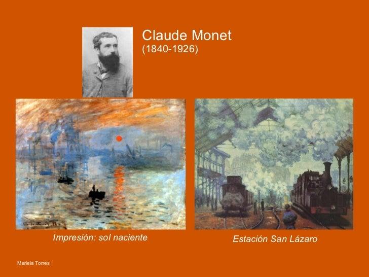 Impresión: sol naciente Estación San Lázaro Claude Monet (1840-1926) Mariela Torres