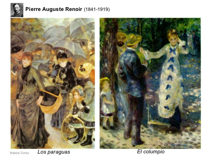 Los paraguas El columpio Pierre Auguste   Renoir  (1841-1919) Mariela Torres