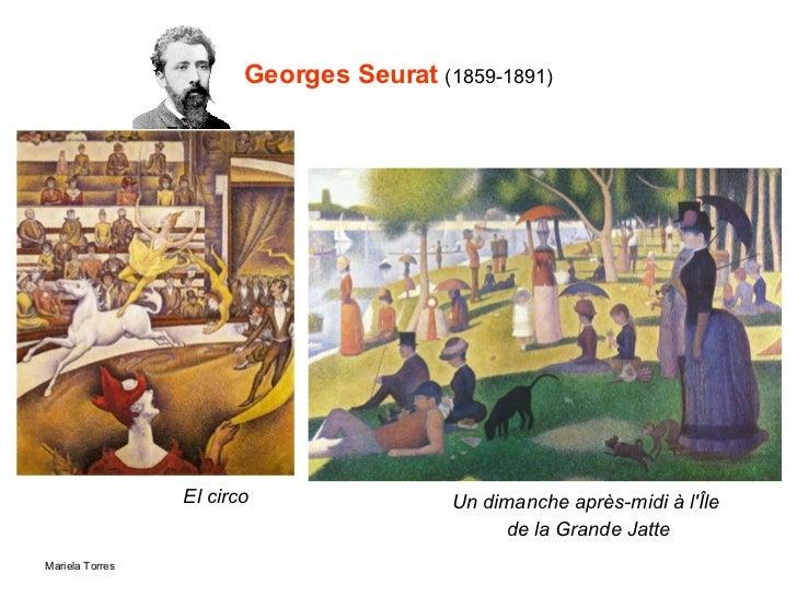 Georges Seurat  (1859-1891) El circo Un dimanche après-midi à l'Île de la Grande Jatte