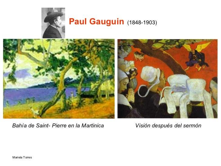 Paul Gauguin   (1848-1903) Bahía de Saint- Pierre en la Martinica Visión después del sermón