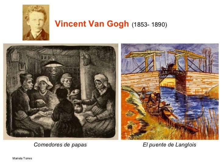 Vincent Van Gogh  (1853- 1890) Comedores de papas   El puente de Langlois