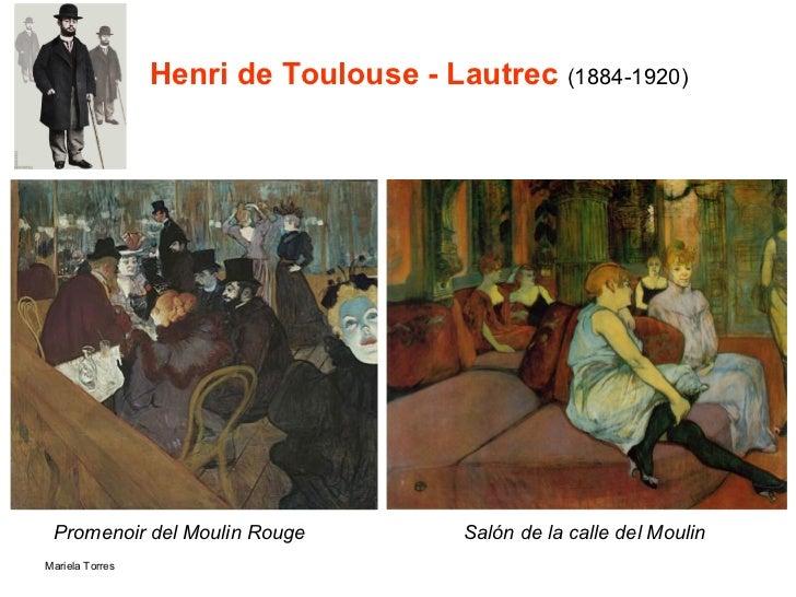 Henri de Toulouse - Lautrec  (1884-1920) Promenoir del Moulin Rouge Salón de la calle del Moulin