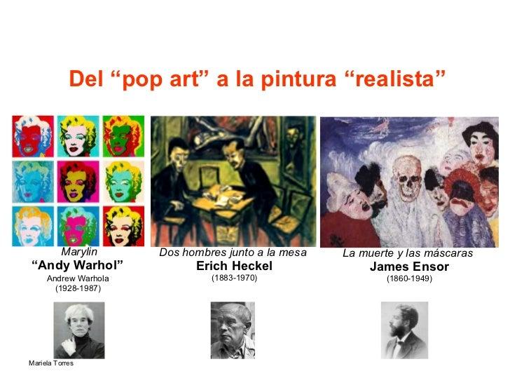 """Del """"pop art"""" a la pintura """"realista"""" Marylin """" Andy Warhol""""   Andrew Warhola   (1928-1987)   Dos hombres junto a la mesa ..."""
