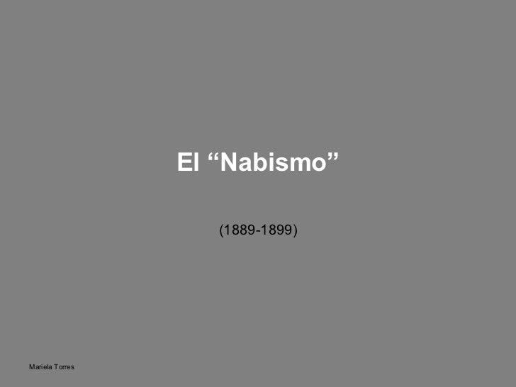 """(1889-1899) El """"Nabismo"""""""