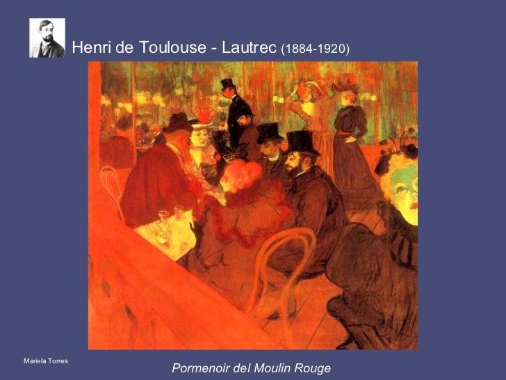 Pormenoir del Moulin Rouge   Henri de Toulouse - Lautrec  (1884-1920) Mariela Torres