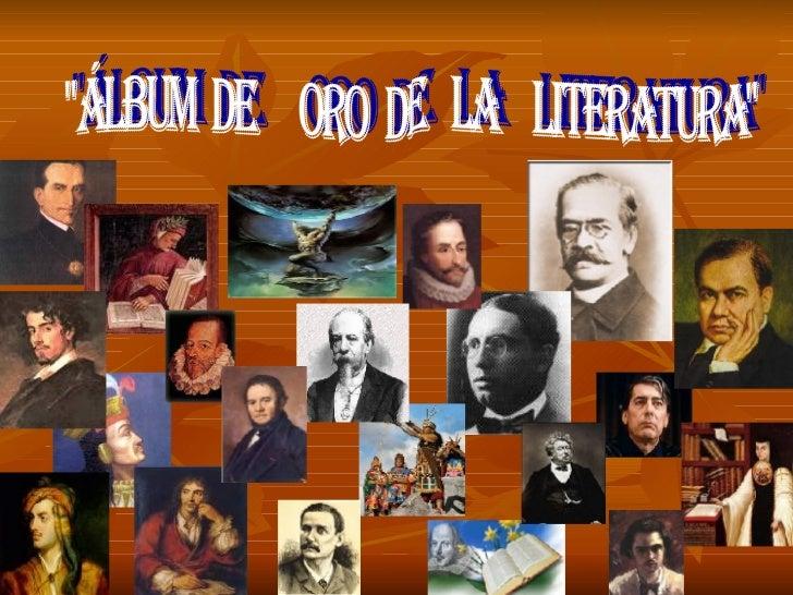"""""""ÁLBUM  DE  ORO  DE  LA  LITERATURA"""""""