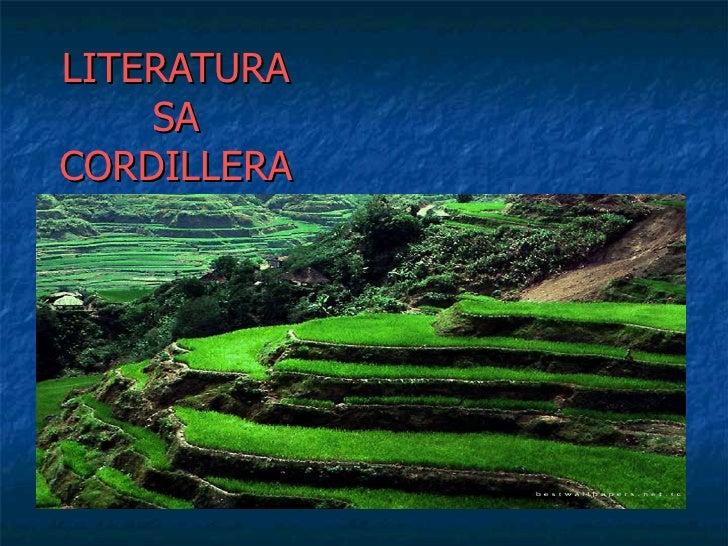 LITERATURA SA CORDILLERA