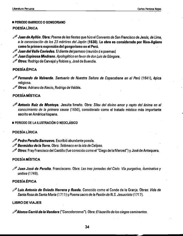 Literatura Peruana: Desde la etapa prehispanica hasta