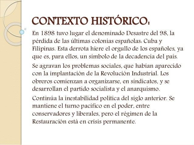 LITERATURA: EL MODERNISMO Y LA GENERACIÓN DEL 98 Slide 3