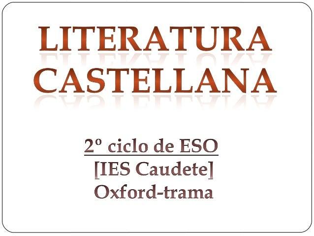 Literatura 2ºcicloESO