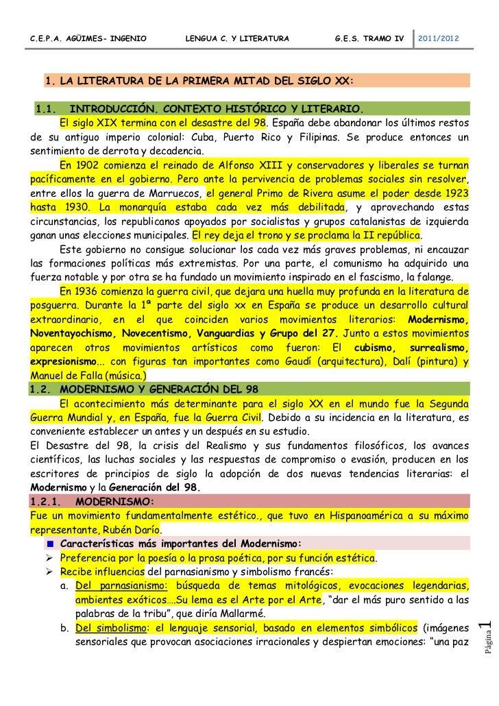 C.E.P.A. AGÜIMES- INGENIO        LENGUA C. Y LITERATURA           G.E.S. TRAMO IV   2011/2012   1. LA LITERATURA DE LA PRI...