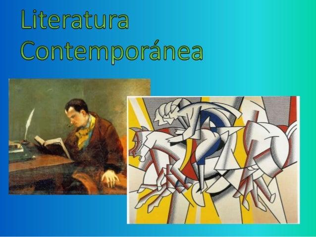 Literatura en la poca contempor nea for Imagenes de epoca contemporanea