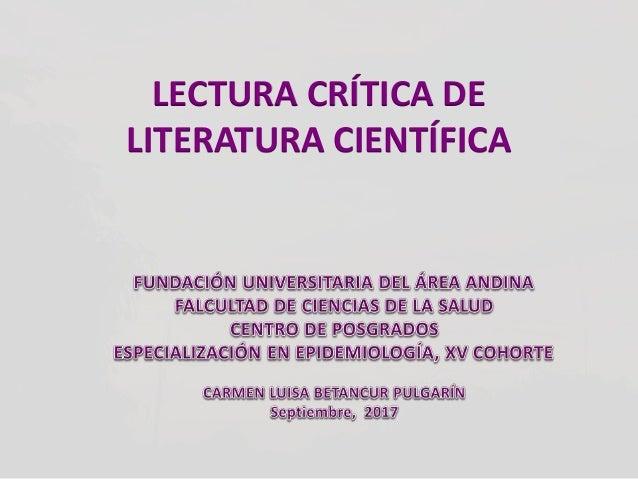 Literatura crítica clase 1