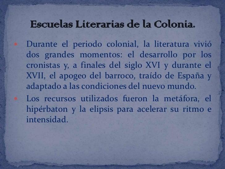 Literatura del descubrimiento, la colonia y la conquista
