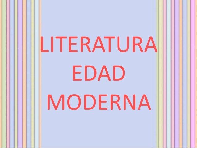 LITERATURAEDADMODERNA