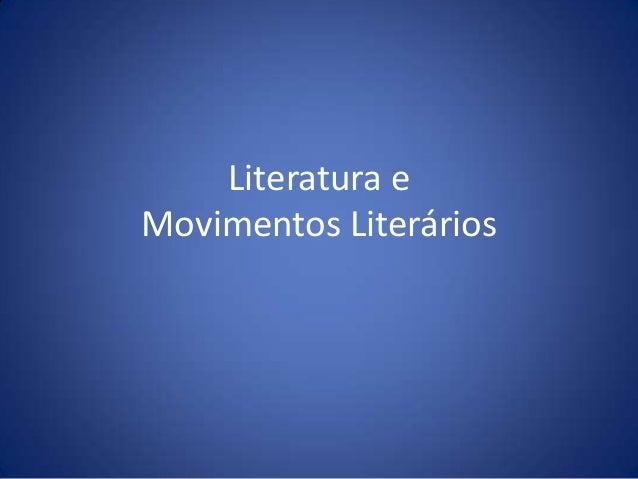 Literatura eMovimentos Literários