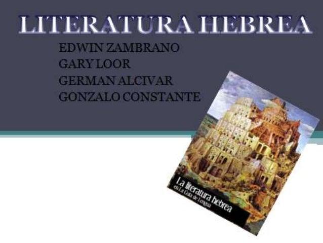 LITERATURA HEBREA