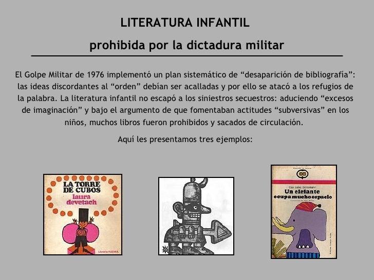 """LITERATURA INFANTIL  prohibida por la dictadura militar El Golpe Militar de 1976 implementó un plan sistemático de """"desapa..."""