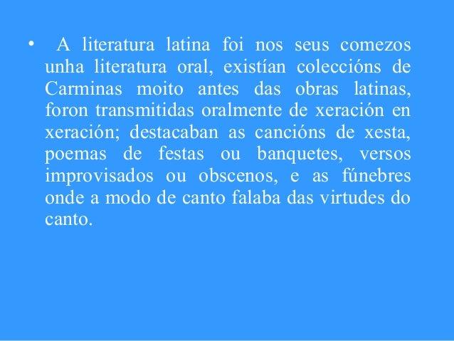 Literatura latina Slide 3